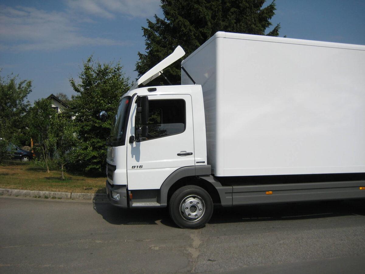 ECONOMY Blattspoiler für Mercedes Atego/Axor, S-Fahrerhaus F07/F20 B 1750 x L 1250 mm für abc aeroline