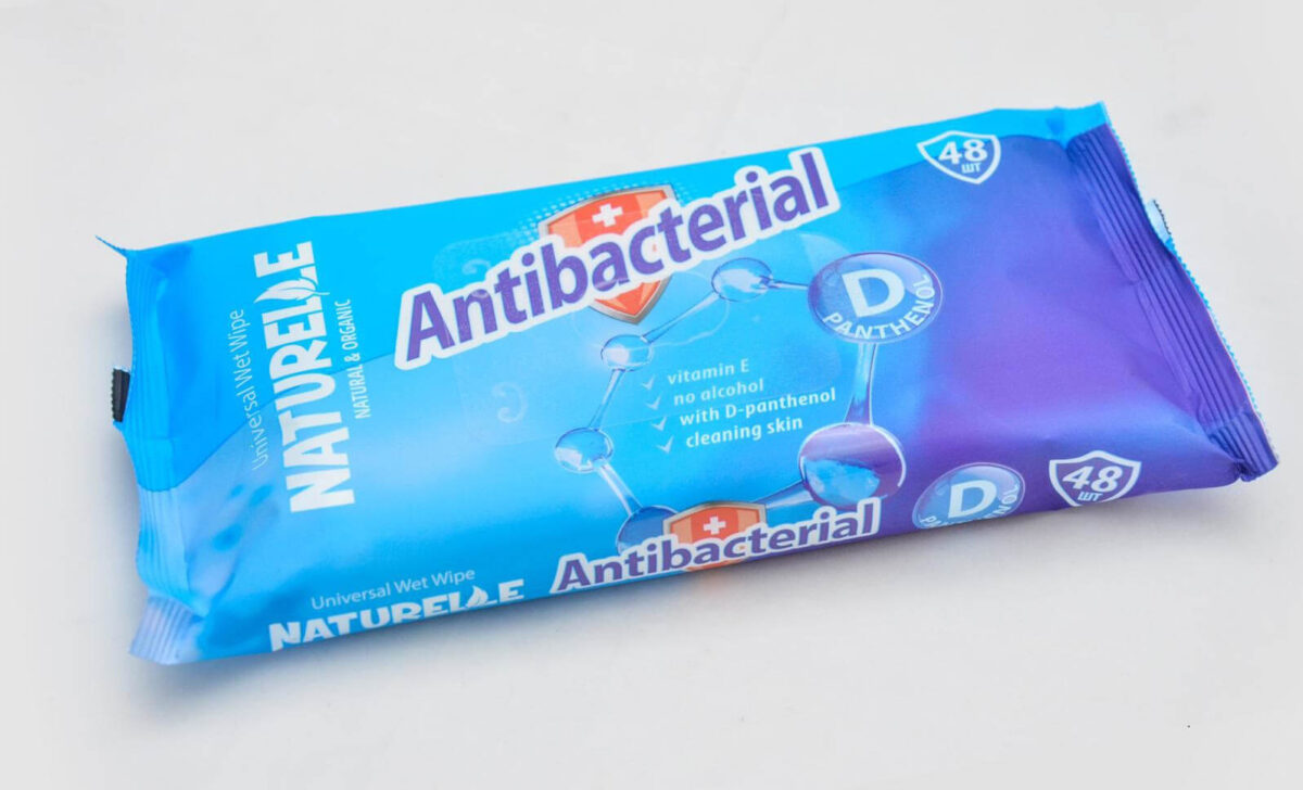 Antibakterielle Wischtücher, universell einsetzbar, luftdicht verpackt, ohne Alkohol, mit D-Panthenol für abc aeroline