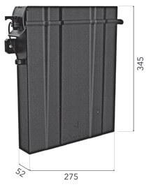 Dokumentenbox Kunststoff Schwarz für abc aeroline