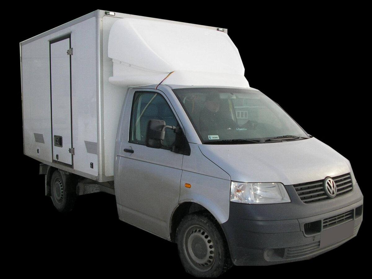 ECONOMY 3D-Dachspoiler für VW T5/T6, Normalfahrerhaus B 2000 x H 650-850 mm für abc aeroline
