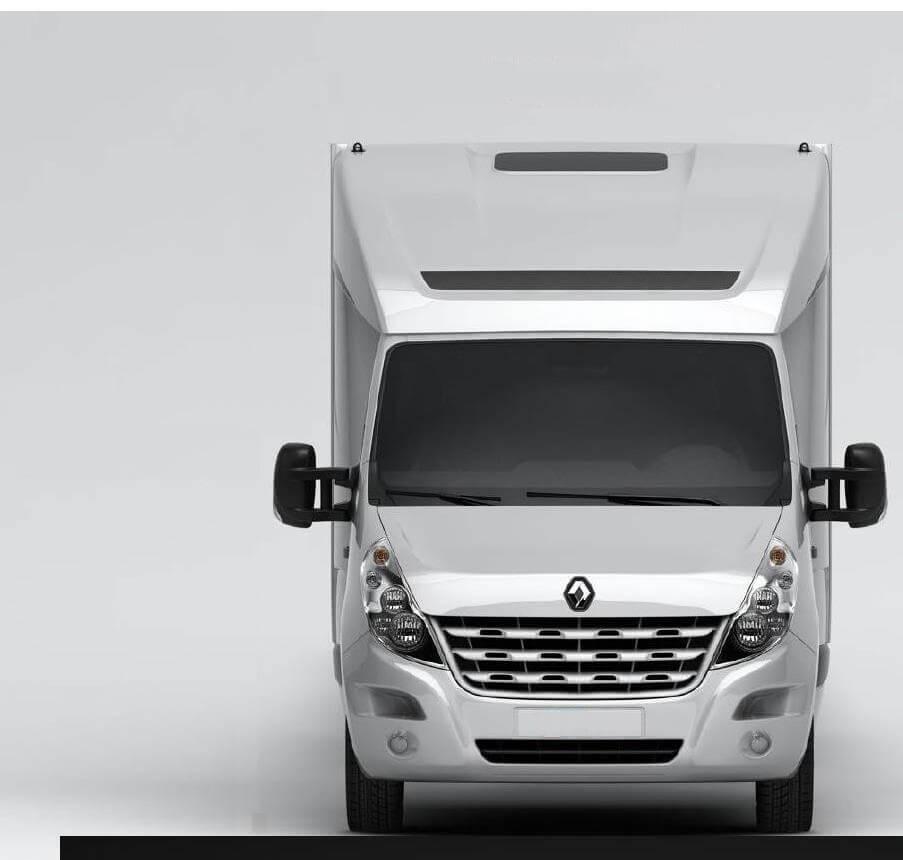 DEEPSLEEPER Fernfahrerhaus für Renault Master/Opel Movano, Normalfahrerhaus B 2290 x H 730mm/Ü540 mm, mit Ablagetisch, Stauraum und 600mm Bett für abc aeroline