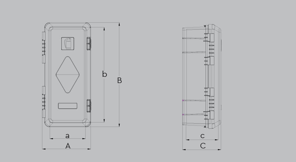 Feuerlöschkasten für 6-9kg Feuerlöscher, personalisierbar für abc aeroline