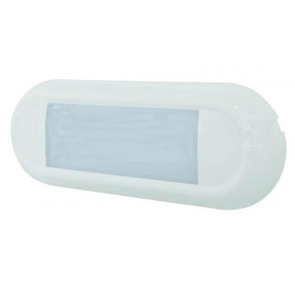 LED Innenleuchte mit Bewegungsmelder, Aufgesetzt, 12/24 Volt, 860 Lumen, IP67, Kabel 200 mm, 2 x 0,75m², H 18,5 x L 186 x B 66 mm, R10 für abc aeroline