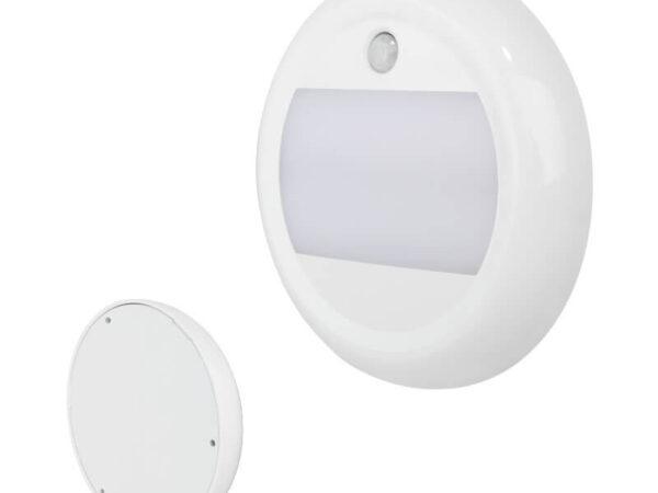 Innenleuchte Rund mit Bewegungssensor, Gehäuse Weiß, Ø 130 mm, H 20mm, 12/24 Volt, IP67, 1800 Lumen für abc aeroline
