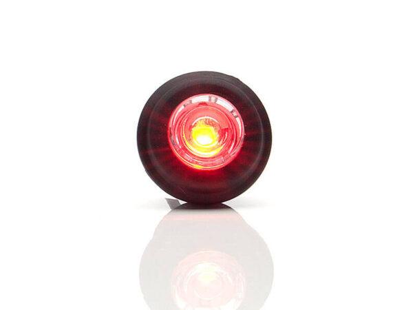 LED 12/24 volt, IP68 Leuchte zum drücken in Rot mit Sicherung für abc aeroline