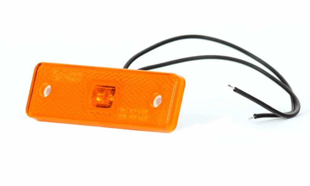 LED-Leuchte für Seitenerkennung zum anlöten, Orange für abc aeroline