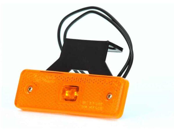 LED-Leuchte für Seitenerkennung mit Kabelklammer IP68 und Halterung, Orange für abc aeroline