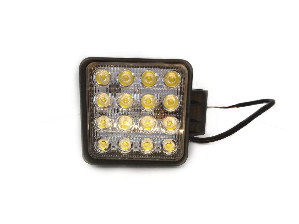 LED Rückfahrstrahler R23 / Arbeitsleuchte mit Aluminium Gehäuse, 12/24 Volt, 32 Watt, 2700 Lumen, IP67, inkl. Befestigungsbolzen, Kabel 40 cm 2 x 0,75m², H 127 x B 110 mm für abc aeroline