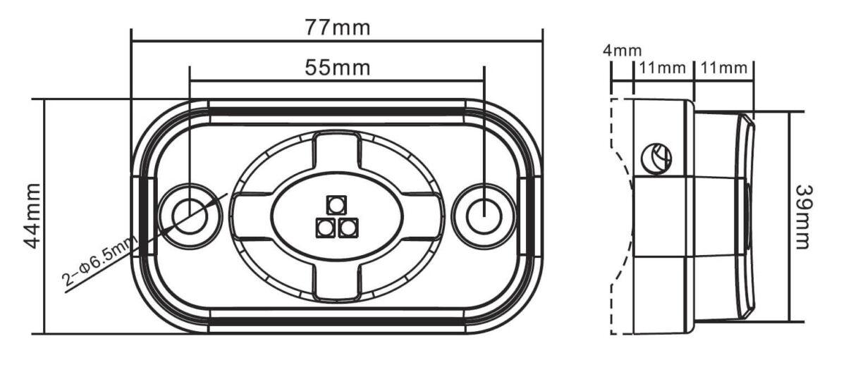 Kompakte Leistungsfähige LED Leuchte im schwarzem Aluminium Gehäuse für abc aeroline