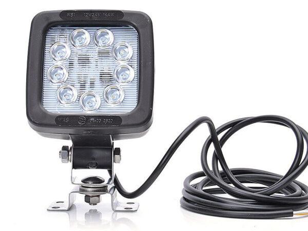 Leistungsfähige 12/24 volt, IP68 , 1300 Lumen LED Arbeitslampe mit Befestigung und Kabel, auch als Rückleuchte nutzbar (ECE R10) für abc aeroline
