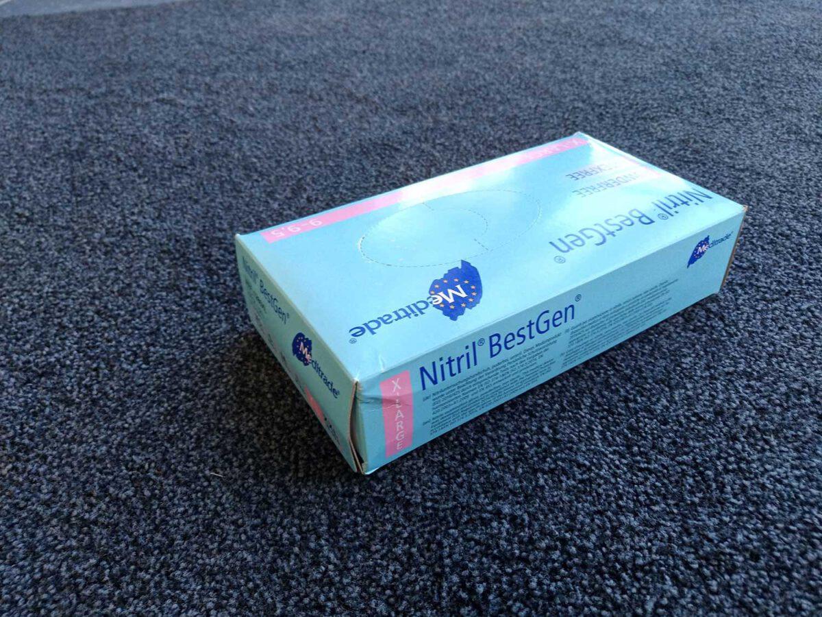 Nitril Handschuhe Einweg Premium Qualität Ausführung blau für abc aeroline