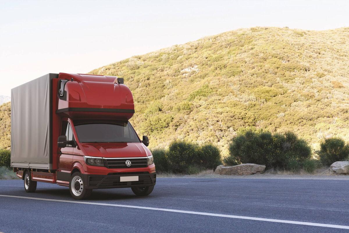 AERO-SPACE Dachschlafkabine VW Crafter, MAN TGE, Doppelkabine B 2060 x H 900, Ü 40mm für abc aeroline