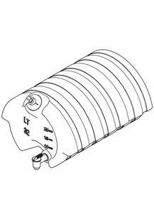 Wassertank Kunststoff für abc aeroline