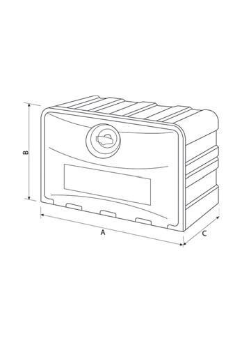 Werkzeugkasten Kunststoff, Größe: 800x500x490mm, personalisierbar für abc aeroline