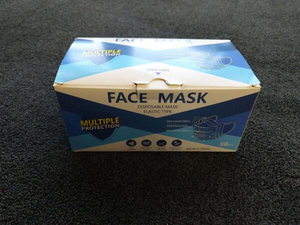 Mundschutz mit Gummibändern 3-Lagig, einfache Ausführung für abc aeroline