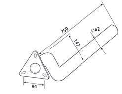 Protect Kotflügel-Halterungsrohr, Größe: 42mm von ABC AeroLine